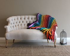 Giant knit blanket, chunky knit throw, wool blanket, super bulky blanket, hippie beddingThis beautiful throw blanket was made using one of my specialty techniques. It combines hand made crochet with hand woven unspun wool. Loom Blanket, Giant Knit Blanket, Knitted Afghans, Knitted Blankets, American Flag Blanket, Hippie Bedding, Giant Knitting, Blanket Storage, Chunky Knit Throw