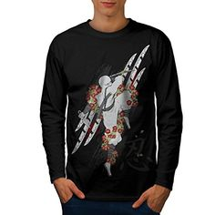 424b08a85 Ninja Weapon Attack Men NEW L Long Sleeve Tshirt Wellcoda * To view further  for this