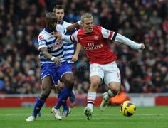 Classic Jack - Wilshere holds off challenges in his first appearance for the first team in 17 months. #Arsenal v #QPR