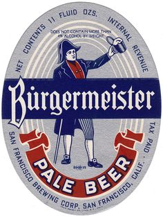Rótulo antigo de cerveja Old Advertisements, Advertising, Pin Up Retro, Sous Bock, Beer Coasters, Logo Sign, Beer Label, Vintage Tags, Bottle Labels