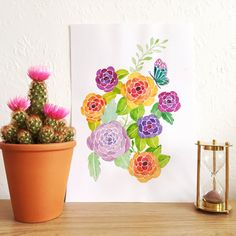 Original Watercolour Painting  Wonderful Blooms by sarahfrancesart