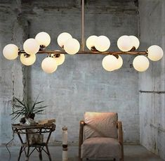 Lift your room with some statement lighting!Art Deco is the trend of the year and these globe lights are giving us some serious Gatsby vibes. Dinning Room Chandelier, Globe Chandelier, Modern Chandelier, Modern Lighting, Hanging Globe Lights, Dining Room, Hanging Lamps, Nordic Lights, Led Pendant Lights