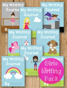 Such an easy way to motivate girls to write. Fun story prompts, colorful journal covers, helpful editing checklists... lots of stuff!