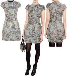 Carven Paisley Jacquard Dress