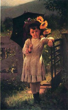 The Sunflower Girl From John George Brown