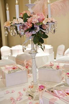 Pink table scape...