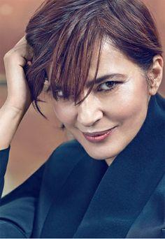 Laura Morante wearing a jacket by Giorgio #Armani