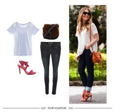 Get the Look: T-shirt com renda + Calça jeans skinny + Bolsa de pelo fake + Sandália com amarrações. #moda #look #estilo #outfit #getthelook #ootd #styling #blusa #renda #jeans #skinny #sandália #pink #shoes #sotd #bolsa #pelo #spezzato #ellus #rosachá #vicenza #shop #ecommerce #lojaonline #lnl #looknowlook