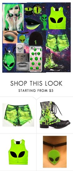 """Alien👽💚"" by savithebunny ❤ liked on Polyvore featuring Abbey Dawn, As Is and RIPNDIP"