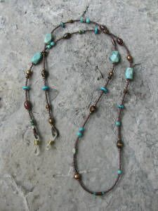 Eyeglass Holder Turquoise and bone Jewelry Findings, Beaded Jewelry, Beaded Necklace, Jewellery, Beaded Lanyards, Necklace Holder, Eyeglass Holder, Eye Glasses, Beading