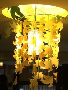Dove lamp shade. Handmade paper. My creation