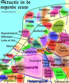 9th c. the counties and regions