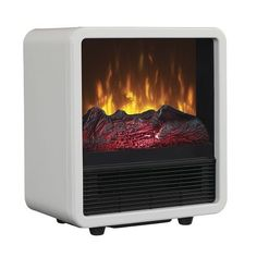 Space Heater Energy Efficient Electric Room Home Office Personal Fireplace Flame #Duraflame