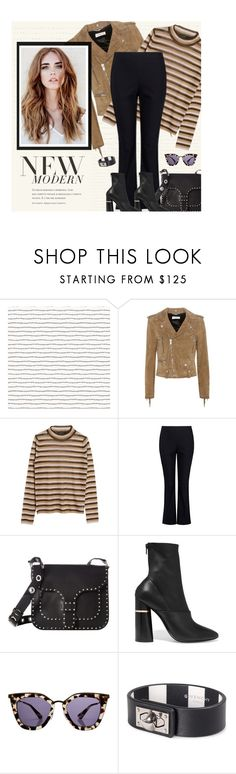 """Street Style: Suede Jacket Saint Laurent"" by fashionmonkey1 ❤ liked on Polyvore featuring Yves Saint Laurent, Pari Desai, Rebecca Minkoff, 3.1 Phillip Lim, Prada, Givenchy, StreetStyle, YSL, saintlaurent and yvessaintlaurent"