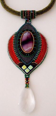 I so love beadwork with simple clean lines and great color! by birgitte aalten