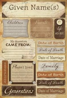 Heritage documentation and journaling cards