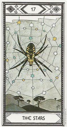 The Stars Tarot Card Art   Native American Tarot Deck   Modern Oracle Cards   Divination   Spider in Web #tarotcardsart