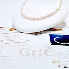 每一件珠寶皆附上鑑別書 WATATSUMI讓您買的安心 提供給您高品質珍珠