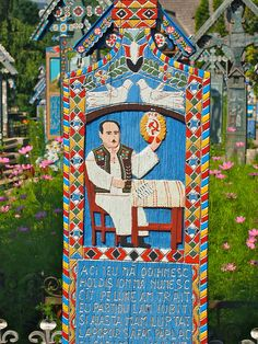 Merry Cemetery in Romania isn't your average cemetery. Not only are the grave markers here colorful and ornate, but this cemetery is all about celebrating life rather than mourning death. Visit Germany, A Level Art, Cemetery, Create Yourself, Folk Art, Web Design, Death, Happy, Funeral