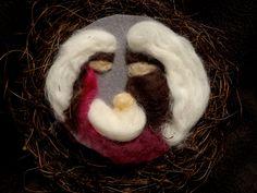 Betlém, ruční práce, vánoční výzdoba, needle felting,