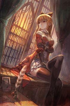 Anime 1325x2000 anime anime girls Granblue Fantasy Vila (Granblue Fantasy) cleavage dress thigh-highs