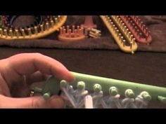 ▶ Loom Knitting Twisted Knit Stitch - YouTube