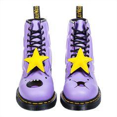 Dr Martens X Adventure Time Lumpy Space Princess 1460 Boots (Purple)