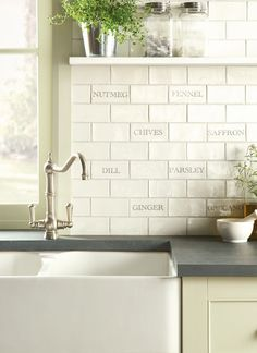 Tiles of Stow - Decorated Tiles - Winchester Residence Herbs & Spices