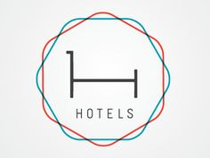 H Hotels Logo ! Iv been wanting to make my newest design in this overlapping colours style :)