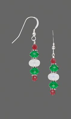 """Earrings with Swarovski Crystal Beads, Celestial Crystal® Beads, Sea """"Opal'' Glass Beads and Sterling Silver Beads"""