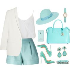 ADORO EL BLUE Y EL WITHE by licethfashion on Polyvore featuring moda, Miss Selfridge, STELLA McCARTNEY, 3.1 Phillip Lim, Furla, Kate Spade, Olive & Pique, Burberry and Christian Louboutin