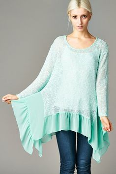 Sienna Tunic in Mint | Women's Clothes, Casual Dresses, Fashion Earrings & Accessories | Emma Stine Limited
