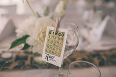 Wedding Bingo anyone? Cute place name! For more of this real wedding head to - http://www.modernwedding.com.au/a-wedding-by-the-water/ // Photography by Martine Payne