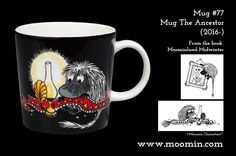 Mug – The Ancestor Produced: Illustrated by Tove Slotte and manufactured by Arabia. The original artwork can be found. Moomin Mugs, Original Artwork, History, The Originals, Tableware, Illustration, Moomin Valley, Design, Historia