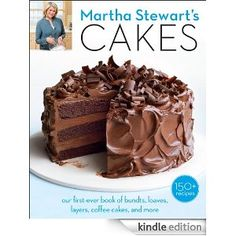 Martha Stewart's Cakes - I don't usually like her cookbooks, but this one rocks!!!  If you are a cake baker, you must get this one - loaves, bundts, coffee cakes, single & double layer, cheesecakes & icebox.  Try cream cheese pound cake, mini rum bundts, & real New York crumb cake - no crazy ingredients or any that cost $200 & no special equipment - just great cake baking - after all, Martha is the woman you love to hate and hate to love - I rate this a 10 - no kidding!
