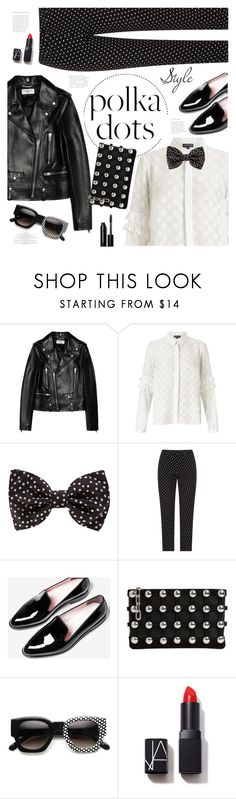 """Polka rocks!"" by nineseventyseven ❤ liked on Polyvore featuring Yves Saint Laurent, Miss Selfridge, Dolce&Gabbana, Everlane, Alexander Wang, ZeroUV, NARS Cosmetics, Bobbi Brown Cosmetics and PolkaDots"