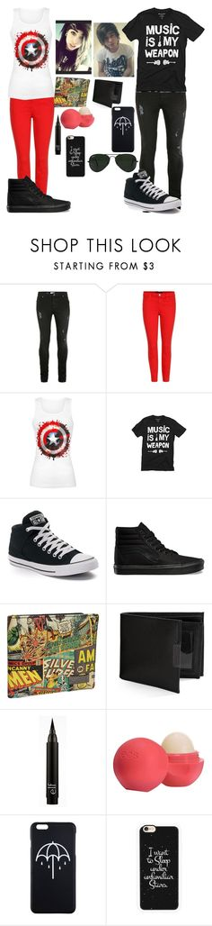 """Open Set// Comment"" by ur-local-emo ❤ liked on Polyvore featuring Topman, J Brand, Converse, Vans, Marvel, Perry Ellis, Eos, Casetify and Ray-Ban"