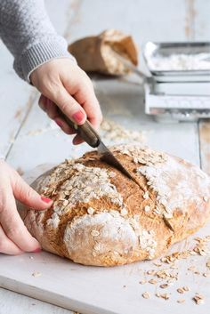 Puuroleipä // Porridge Bread Food & Style Kati Pohja Photo Johanna Myllymäki www. No Salt Recipes, Bread Recipes, Finnish Recipes, Just Eat It, Recipes From Heaven, Bread Baking, Granola, Food Inspiration, Food To Make