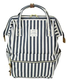 Anello Backpack - Navy Stripes. Small BackpackBlack BackpackJapan Outfit Small Crossbody BagBoho BagsNavy ... 3699df9ea8