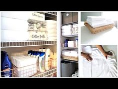 How To Organize A Small Linen Closet and diy labels Organization Tips & Tour - YouTube