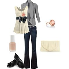Cute outfit :) Id like this with a heel tho. Perfect for a girls night! :)