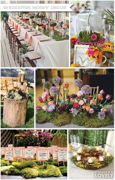 Moss Wedding Decor, Mossy Wedding Inspiration, Rustic Wedding, Wouldn't it be Lovely