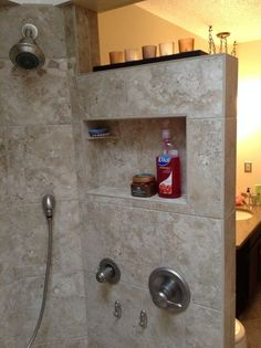 Bathroom Shower DIY 2019 Walk-in shower with no door 28 Inspirational Walk in Shower Tile Ideas for a Joyful Showering The post Bathroom Shower DIY 2019 appeared first on Shower Diy. Master Bathroom Shower, Diy Shower, Bathroom Showers, Shower Tiles, Tile Walk In Shower, Vanity Bathroom, Bathroom Doors, Bathroom Design Small, Bathroom Interior Design