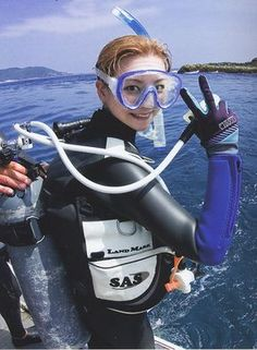 One of the most CUTE scubagirl mask face ever! Scuba Diving Mask, Diving Suit, Diving Wetsuits, Scuba Gear, Snorkeling, Underwater, Surfing, Women, Latex