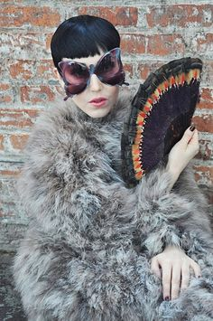 Oliver Goldsmith Butterfly sunglasses.  Michelle Harper - NYC fashion superstar