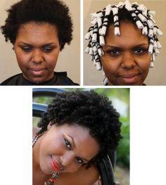 Perm Rod Set On 4b/c Natural Hair Tutorial http://www.blackhairinformation.com/general-articles/perm-rod-set-4bc-natural-hair-tutorial/