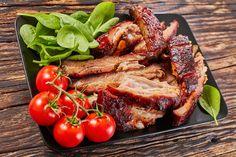 Mustáros sült oldalas recept - Recept | Femina Meatloaf, Sausage, Pork, Pizza, Drink, Kale Stir Fry, Beverage, Sausages, Pork Chops