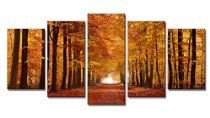 Wieco Art Autumn Forest Modern Giclee Canvas Prints on Canvas Wall Art for Home and office Decorations  www.homengardentips.info