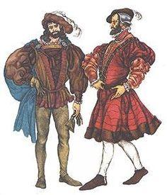 Испанская мода в 16 веках женские и мужские костюмы