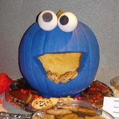 Awesome Cookie Monster pumpkin idea